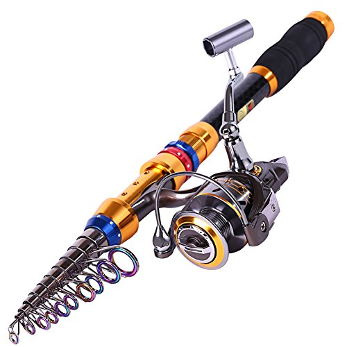 Telescopic Saltwater Fishing Rod And Reel Combos Travel Fishing Pole